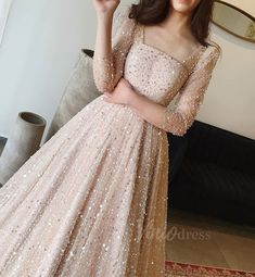 Sequin Prom Dresses, Prom Dresses With Sleeves, Prom Party Dresses, Evening Dresses, Formal Dresses, Wedding Dresses, Sleeved Prom Dress, Long Sleeve Sparkly Dress, Sequin Dress With Sleeves