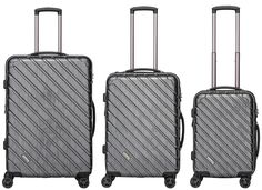Packenger Vertical Business Koffer 3er-Set Anthrazit Metallic