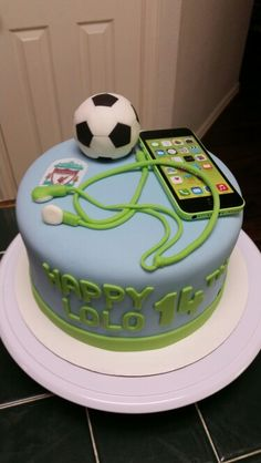 Amy's Crazy Cakes - iPhone and soccer cake