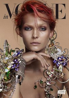 Karolin Wolter Shines in Swarovski Elements for Vogue Germanys 2013 Horoscope