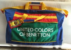 Look at this on eBay:  Vintage RETRO United Colors of BENETTON Designer DUFFLE Carry-On BAG