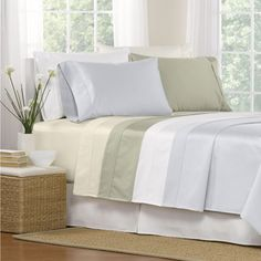 $96 - for Full - Luxury 1000 Thread Count Egyptian Cotton Deep Pocket Sheet Set | Overstock.com Shopping - The Best Deals on Sheets