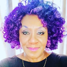 59 Years Young Violet Hair Colors, Shades Of Violet, Purple Reign, Wigs, Crochet Earrings, Dreadlocks, Hair Styles, How To Make, Beauty