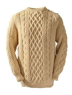 Irish Knit Sweaters don't get any better than our Clan Aran sweater. Authentic hand knit Aran wool sweaters direct from the Aran Sweater Market, Aran Islands, Ireland. Mens Knit Sweater, Cable Knit Sweaters, Black Men Fashion Tips, Types Of Shirts, Shirt Types, Pull, Knitwear, Knits, Crafts