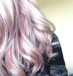 Blonde Color with Pink Highlights
