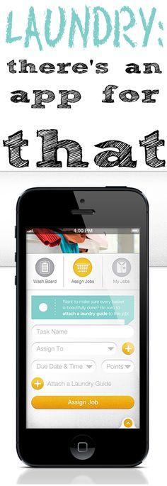 Laundry - yes, there's an app for that #diy #laundry #app's