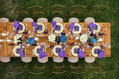 Farm table from above at the  Hallmark Channel Summer 2015 TCA Dinner
