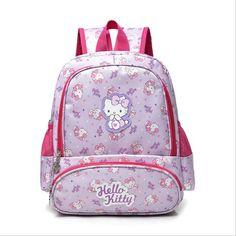 Fruity Hello Kitty Schoolbag Backpack Best Gift For Kids 2-6 Yrs Old Orange