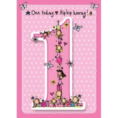 One today..Hip hip hooray!  - Baby pink card!