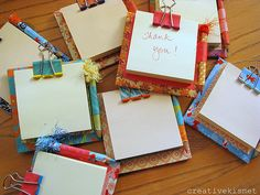 A great way to use those Christmas wrapping paper scraps.