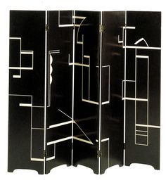 Eileen Grey - Lacquered screen - 1922-1925.