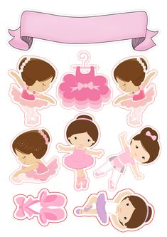 Topo de Bolo Bailarina Ballerina Birthday Parties, Ballerina Party, Girl Birthday, Cat Cake Topper, Cake Toppers, Cartoon Songs, Ballerina Baby Showers, Baby Ballet, Dance Crafts