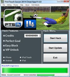 First Touch Soccer 2014 Cheats for Credits and VIP Unlock - http://risehack.com/first-touch-soccer-2014-cheats-for-credits-and-vip-unlock/