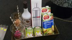 Pina Colada Cocktail Gift Basket