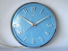 Metamec blue wall clock | Flickr - Photo Sharing!