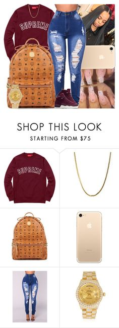 """Untitled #1355"" by msixo ❤ liked on Polyvore featuring MCM, Rolex and NIKE"