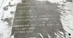 """Raining Poetry"": Boston's sidewalks reveal secret poems when it rains"