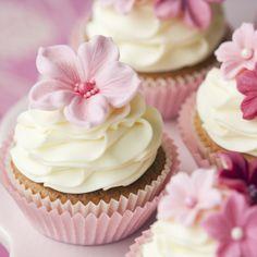 Pink Cupcakes - baby shower dessert ideas