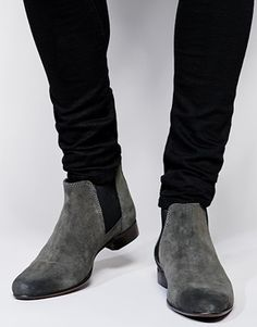 ASOS Chelsea Boots in Suede - Gray
