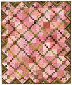 Walled Garden: This scrappy, fat-quarter friendly quilt offers a great way to use up your fabric stash.