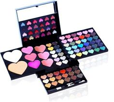 Shany © Makeup Kit Heart and Kisses – Eyeshades, Blush, Lipgloss -Cameo Collection in Heart Shapes for Valentines Day Makeup Kit For Kids, Kids Makeup, Makeup For Teens, Makeup Box, Cute Makeup, Makeup Case, Little Girl Makeup Kit, Teenage Makeup, Unicorn Makeup