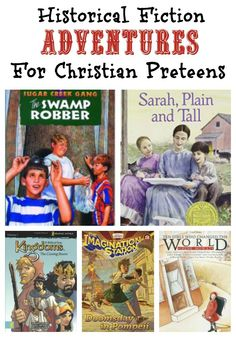 Christian Historical Fiction Books for PreTeens. A great reading list for your adventures to enjoy this summer. Perfect for preteens and young teens.