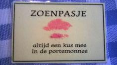 Moederdag - zoenpasje: altijd een kus mee in de portemonnee
