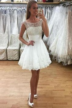 Newest Beading Short White Lace Cap Sleeves Homecoming Dresses Cute Prom Dresses Custom Prom Dresses Lace Homecoming Dresses Lace White Homecoming Dresses Homecoming Dresses Cheap Prom Dresses 2019 White Homecoming Dresses, Cheap Prom Dresses, Dresses For Teens, Modest Dresses, Elegant Dresses, Party Dresses, Short Dresses, Dress Party, Graduation Dresses