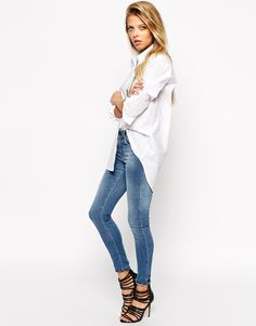 Image 4 ofASOS Smart Boyfriend White Shirt
