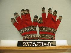 Pair of knittedgloves, India