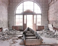 A room in Pripyat near Chernobyl.  Abandoned after the disaster.