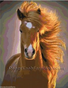 Nature's Beauty ~ Horses ~ Counted Cross Stitch Pattern #StoneyKnobFarmHeirlooms #CountedCrossStitch