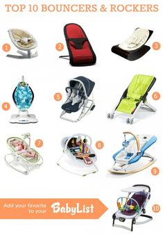 Top 10 Bouncers 2013 (baby rockers, baby loungers)
