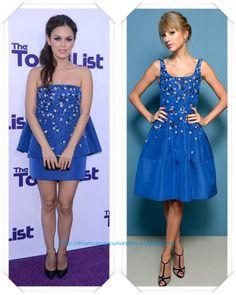 Un vestido de Oscar de la Renta Resort 2014, en dos versiones, se lo vimos primero a Rachel Bilson en la premiere de The to do list; después a Taylor Swift en el Festival de Toronto