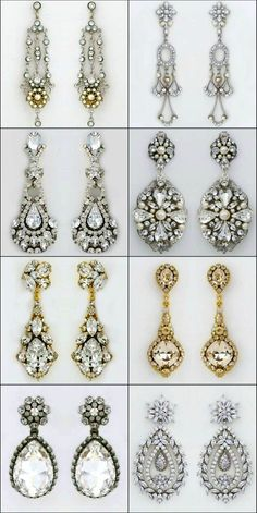 Bridal Chandelier Earrings.  Everyone has a favorite.  Some of our best selling chandelier earrings for weddings & black tie affairs.  https://perfectdetails.com/chandelier-earrings.htm