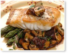 Grouper Sicily / Entrees / Recipes / Home - Florida Department of Agriculture & Consumer Services Grouper Recipes, Fish Recipes, Seafood Recipes, Seafood Meals, Game Recipes, Entree Recipes, Cooking Recipes, Healthy Recipes, Cooking Ideas
