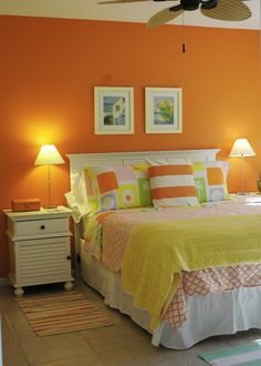 LUV the orange wall for kids room