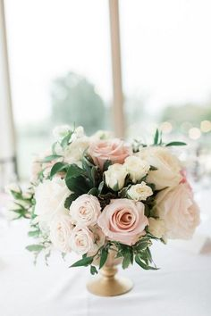 A Classic and Romantic Vineyard Wedding haare hochzeit wreath wedding flowers flowers summer flowers white wedding Pink Wedding Centerpieces, Wedding Flower Arrangements, Wedding Bouquets, Wedding Decorations, Centerpiece Ideas, Small Flower Centerpieces, Peonies Centerpiece, Wedding Dresses, Floral Wedding