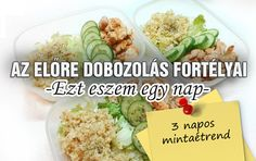 Az előre dobozolás fortélyai- Ezt eszem egy nap avagy 3 napos mintaétrend Egy Nap, Meal Prep, Health Fitness, Meals, Blog, Meal, Blogging, Health And Fitness, Meal Planning