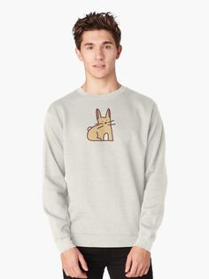 Cute corgi in party hat Pullover Sweatshirt Neck T Shirt, Crew Neck Sweatshirt, Graphic Sweatshirt, Pullover, Karate, Chemise Fashion, Women's Fashion, Photo Vintage, Quotes White