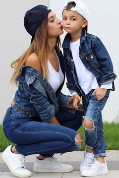 45 Cute Baby Boy Outfits Ideas For Spring - kids - Baby Mom And Son Outfits, Cute Baby Boy Outfits, Mother Daughter Outfits, Family Outfits, Toddler Outfits, Girl Outfits, Toddler Boy Fashion, Fashion Kids, Mother Son Matching Outfits