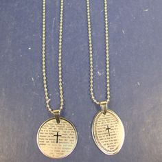 Wholesale Jewelry - Silver Ball Chain Necklace w/ Lord's Prayer ***ONLY $0.54 EACH ***