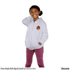 Free Style E76 Girls' American Apparel California Fleece Zip Hoodie   #design #fashion #freestyle #girl #hoodiejacket