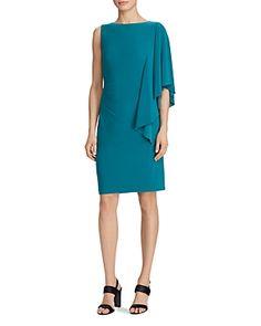 RALPH LAUREN LAUREN RALPH LAUREN FLUTTER-SLEEVE DRESS. #ralphlauren #cloth #