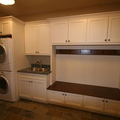 Laundry Storage Design, stainless steel sink, coat/bench storage - page 10