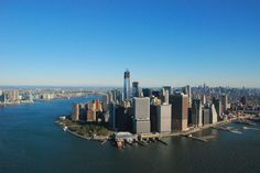 One World Trade Center towering over NYC