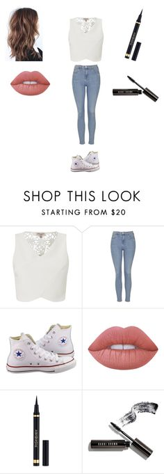 """Untitled #174"" by cheyennehester on Polyvore featuring Lipsy, Topshop, Converse, Lime Crime and Bobbi Brown Cosmetics"