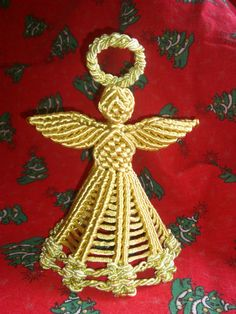 Christmas Macrame Angel by MACRANI on Etsy