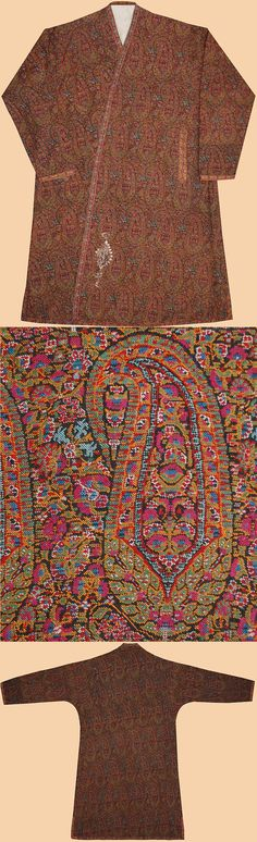 Antique Persian Kerman Shawl Wool Termeh Qajar Dynasty 1795 - 1925 A.D 150 Years old  Persian Textiles - TextileAsArt.com, Fine Antique Textiles and Antique Textile Information