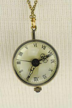 Glass Watch Necklace